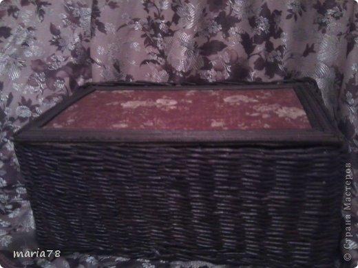 доброго времечка! Сплела вот такую нужную  коробочку=шкатулочку. теперь все нитки в одном месте лежат.) фото 3