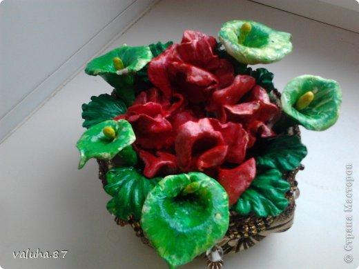 зеленые что то наподобие калл,а красные сама не знаю. фото 1
