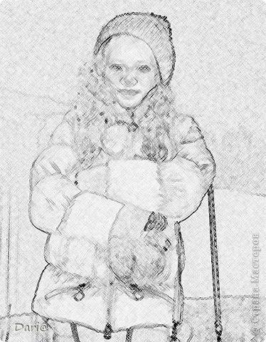 """Сегодня мы будем делать из обычной фотографии """"рисунок"""" карандашом. Я делала МК в фотошопе cs5. фото 15"""