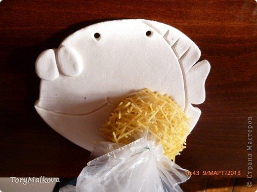Мастер-класс Поделка изделие Лепка Рыбка Семейная идиллия и небольшой МК по гнёздышку Краска Продукты пищевые Тесто соленое фото 6
