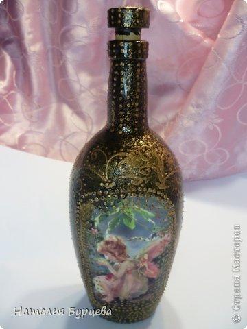 Декор предметов Декупаж Подготовка к Паске Бутылки стеклянные фото 7