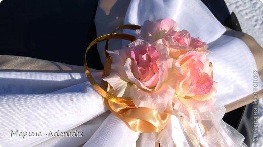 Украшения на свадебный автомобиль фото 2