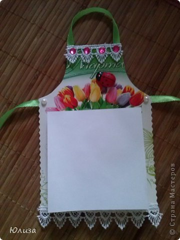 Всем здравствуйте). Решила поделиться своими подарочками на 8 марта.Блоки-фартуки на холодильник. Вдохновили работы Светланы https://stranamasterov.ru/node/328063?c=favorite Спасибо автору))) фото 2