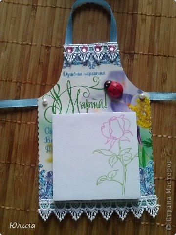 Всем здравствуйте). Решила поделиться своими подарочками на 8 марта.Блоки-фартуки на холодильник. Вдохновили работы Светланы https://stranamasterov.ru/node/328063?c=favorite Спасибо автору))) фото 3