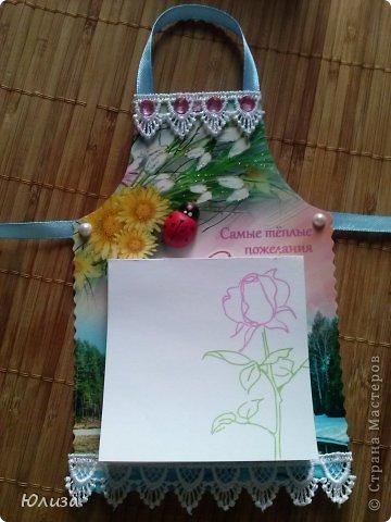 Всем здравствуйте). Решила поделиться своими подарочками на 8 марта.Блоки-фартуки на холодильник. Вдохновили работы Светланы https://stranamasterov.ru/node/328063?c=favorite Спасибо автору))) фото 5
