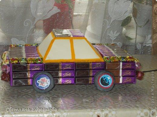 Племяннику на день рождения смастерила вот такую машину. фото 2