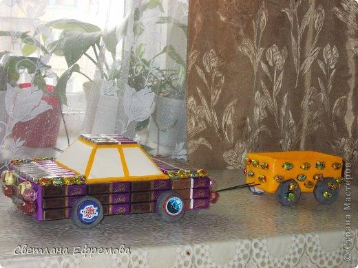 Племяннику на день рождения смастерила вот такую машину. фото 8