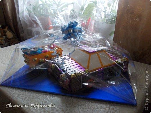 Племяннику на день рождения смастерила вот такую машину. фото 1