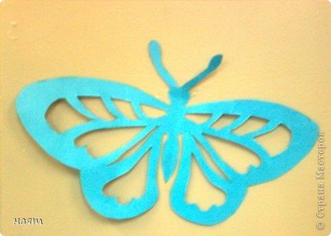 Поделка изделие Вырезание Бабочки + 1 кот Бумага фото 3