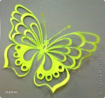 Поделка изделие Вырезание Бабочки + 1 кот Бумага фото 1