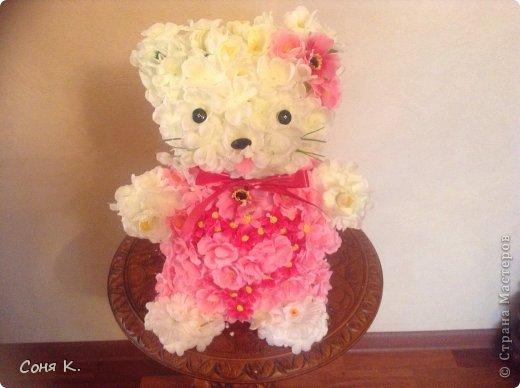 Кошечка Китти из белой и розовой сакуры фото 1