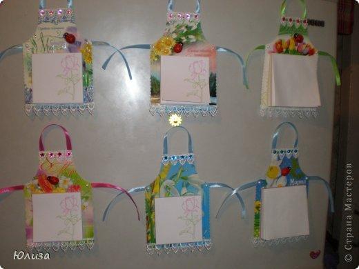 Всем здравствуйте). Решила поделиться своими подарочками на 8 марта.Блоки-фартуки на холодильник. Вдохновили работы Светланы https://stranamasterov.ru/node/328063?c=favorite Спасибо автору))) фото 1