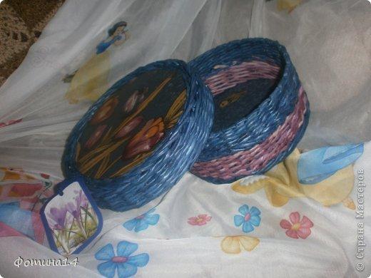 Приветствую всей мастериц и мастеров. Представляю свои новые плетенки. Накопилось много трубочек, остатков от работ. Захотелось их куда то пристроить, так родились эти создания. фото 7