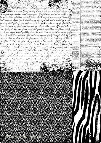 """Я увлекаюсь скрапбукингом, но к сожалению не имею цветного принтера для печатания красивых фонов. Недавно купила набор черно-белой скрап-бумаги форматом 15х15 и отсканировала в формате """"черно-белый рисунок или текст"""". Теперь распечатываю на цветной бумаге. фото 6"""