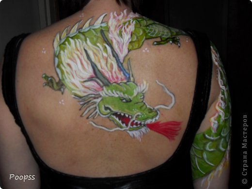 Дракон- аквагрим фото 3
