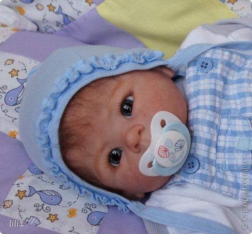 Малыш реборн Левушка, расписан мною в начале февраля. Волосы мохер, очень яркий малыш -  рыжик, имя ему кажется очень идет. Волосы довольно густые.   фото 8