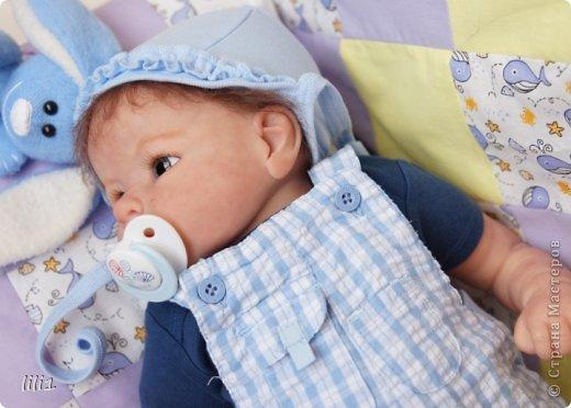 Малыш реборн Левушка, расписан мною в начале февраля. Волосы мохер, очень яркий малыш -  рыжик, имя ему кажется очень идет. Волосы довольно густые.   фото 10
