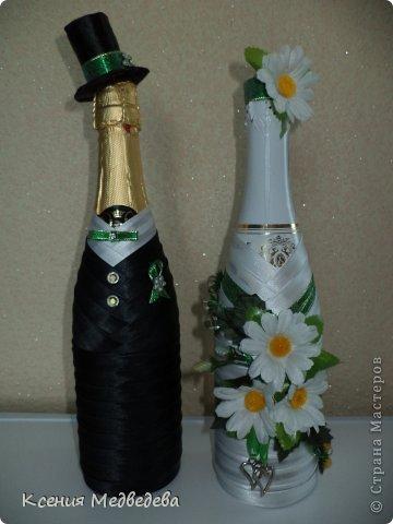 Украшение бутылок на свадьбу своими руками мастер