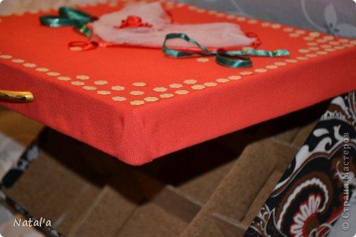 """Вот такая """"шкатулка"""", короб для рукоделия... не знаю как назвать, у меня получился. Всяких материалов для творчества скопилось, а складывать уже некуда)). Вот и решила для мелочей такую штуковину сделать фото 3"""