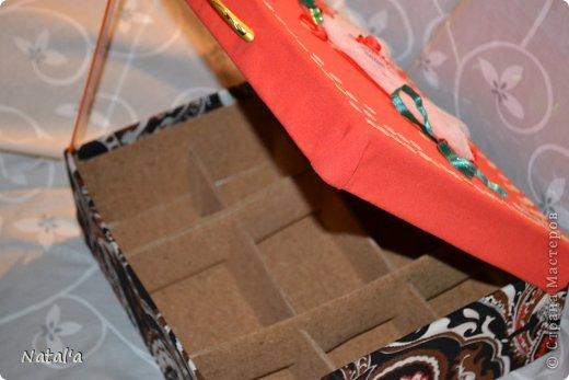 """Вот такая """"шкатулка"""", короб для рукоделия... не знаю как назвать, у меня получился. Всяких материалов для творчества скопилось, а складывать уже некуда)). Вот и решила для мелочей такую штуковину сделать фото 4"""