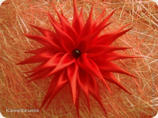 Новый цветок-георгин в технике цунами-канзаши!!! фото 1