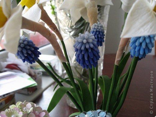 Так уже хочется тепла и цветов, что приходится делать самой, а заодно готовиться к Пасхе! Нарцисы и мускари одни из первых весенних цветов, очень их люблю и конечно, красивые пасхальные яйца станут украшением стола. фото 9