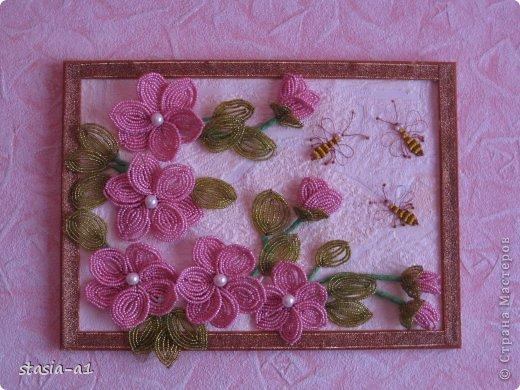Панно Цветы из бисера
