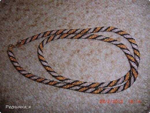 Украшение 8 марта Вязание крючком Жгут из бисера крючком Бисер фото 1.