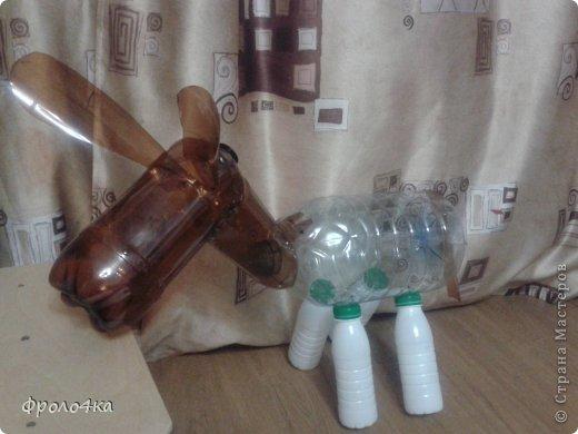 Ослик из пластиковых бутылок мастер класс схема