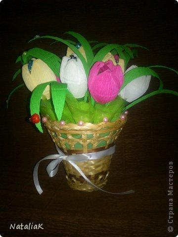 8 марта подарки из конфет фото 7