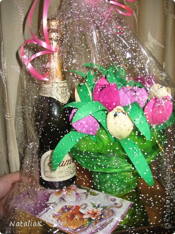 8 марта подарки из конфет фото 10