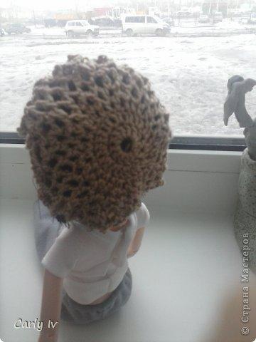 Берет для куклы крючком