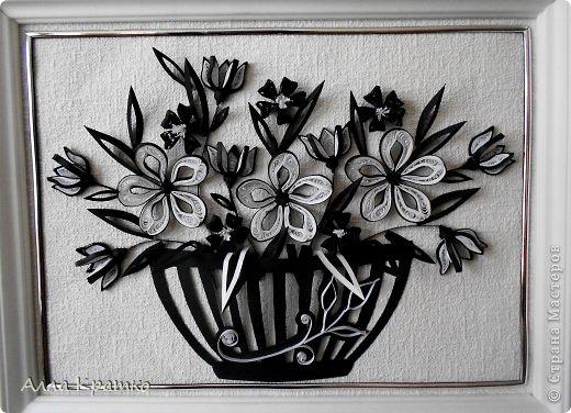 Рисунок квиллинг чорно белое бумага