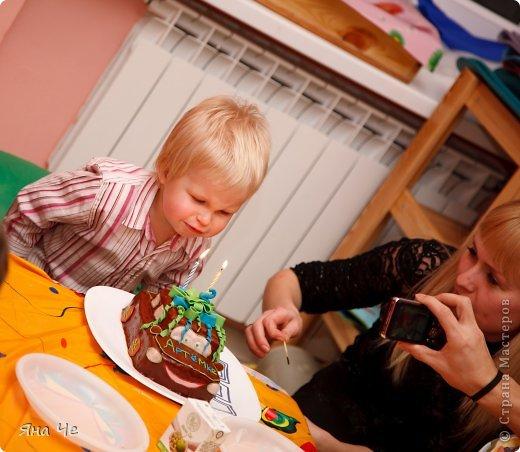 """Это тортик для моего сыночка, благодаря которому я и """"заболела"""" тортоманией))) Заказал он мне Колобка и вот - пожалуйста.  фото 5"""