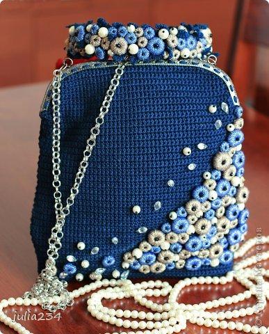 Гардероб Вязание крючком вязаная сумка и ободок на голову Нитки фото 1.