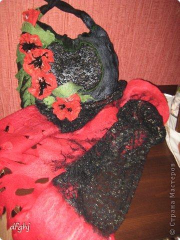 шарф- палантин ,,Красная река,, фото 5