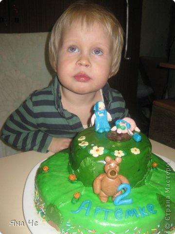 """Это тортик для моего сыночка, благодаря которому я и """"заболела"""" тортоманией))) Заказал он мне Колобка и вот - пожалуйста.  фото 4"""