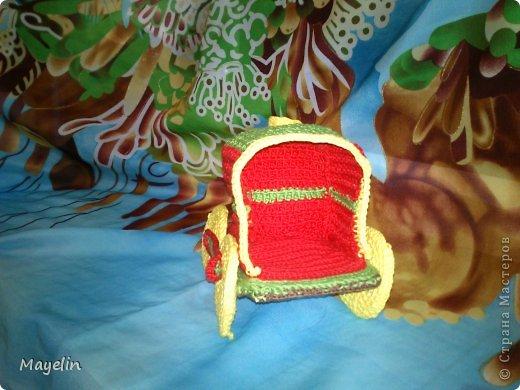 Игрушка Вязание крючком Паровозик Нитки фото 3.