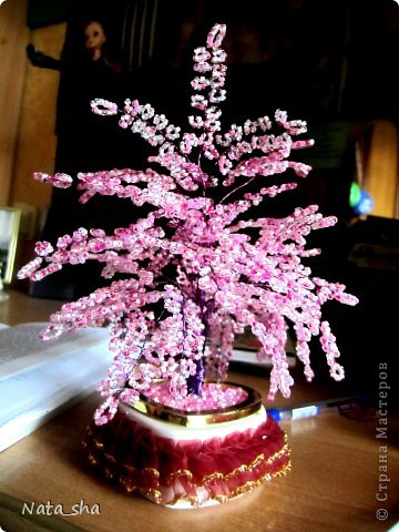 Поделка изделие Бисероплетение Цветущая Сакура из бисера Бисер фото 2.