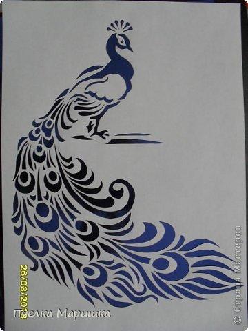 Картина панно рисунок Вырезание Птица - красавица Бумага фото 16.