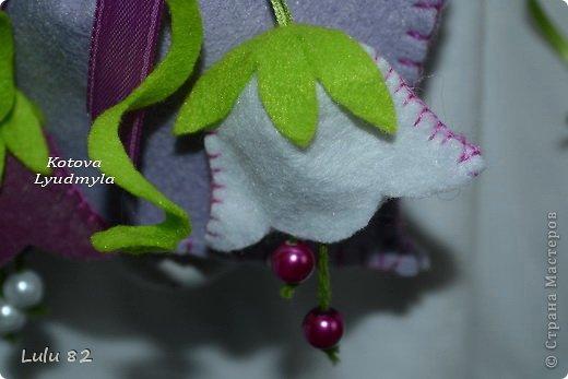 Мастер-класс Поделка изделие Колокольчики из фетра+выкройка Клей Краска Ленты Фетр фото 6
