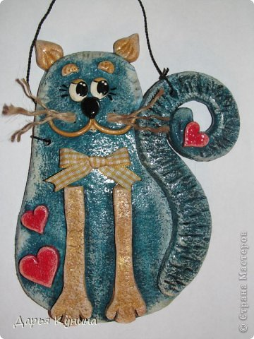Картина панно рисунок Поделка изделие Лепка Ангелы коты и немного из старого Гуашь Тесто соленое фото 31