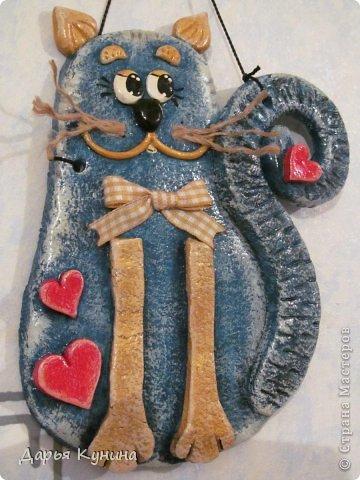 Картина панно рисунок Поделка изделие Лепка Ангелы коты и немного из старого Гуашь Тесто соленое фото 30