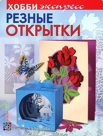 Вышла в свет моя третья книга – «Резные открытки».  Мне давно нравилась книжная серия  «Хобби клуб»  издательства «АСТ-Пресс». Я очень рада, что моя книга увидела свет в новой версии этой серии – «Хобби экспресс».  фото 1