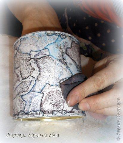 Декор предметов Мастер-класс Декупаж Каменные баночки Имитация Банки стеклянные Бумага журнальная фото 12