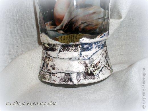 Декор предметов Мастер-класс Декупаж Каменные баночки Имитация Банки стеклянные Бумага журнальная фото 21