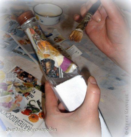 Декор предметов Мастер-класс Декупаж Каменные баночки Имитация Банки стеклянные Бумага журнальная фото 6