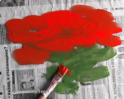 Картина панно рисунок Материалы и инструменты Рисование и живопись Монотипия Маленький МК Бумага Гуашь фото 2