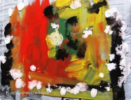 Картина панно рисунок Материалы и инструменты Рисование и живопись Монотипия Маленький МК Бумага Гуашь фото 3