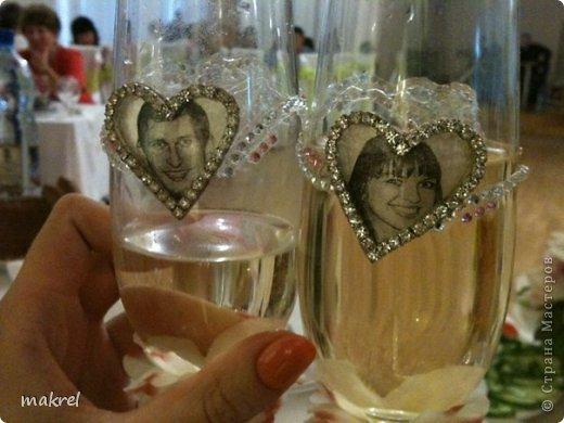 бокалы на свадьбу для брата, с личиком жениха и невесты. фото 4